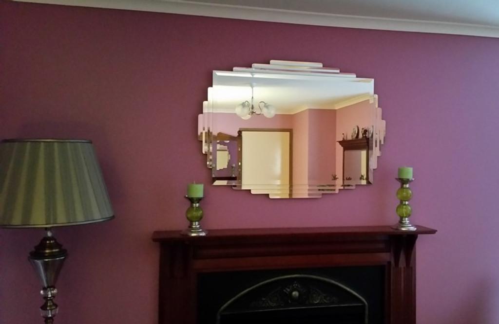 Rialto Art Deco Mirror | In Situ | Print Decor Mirrors Melbourne
