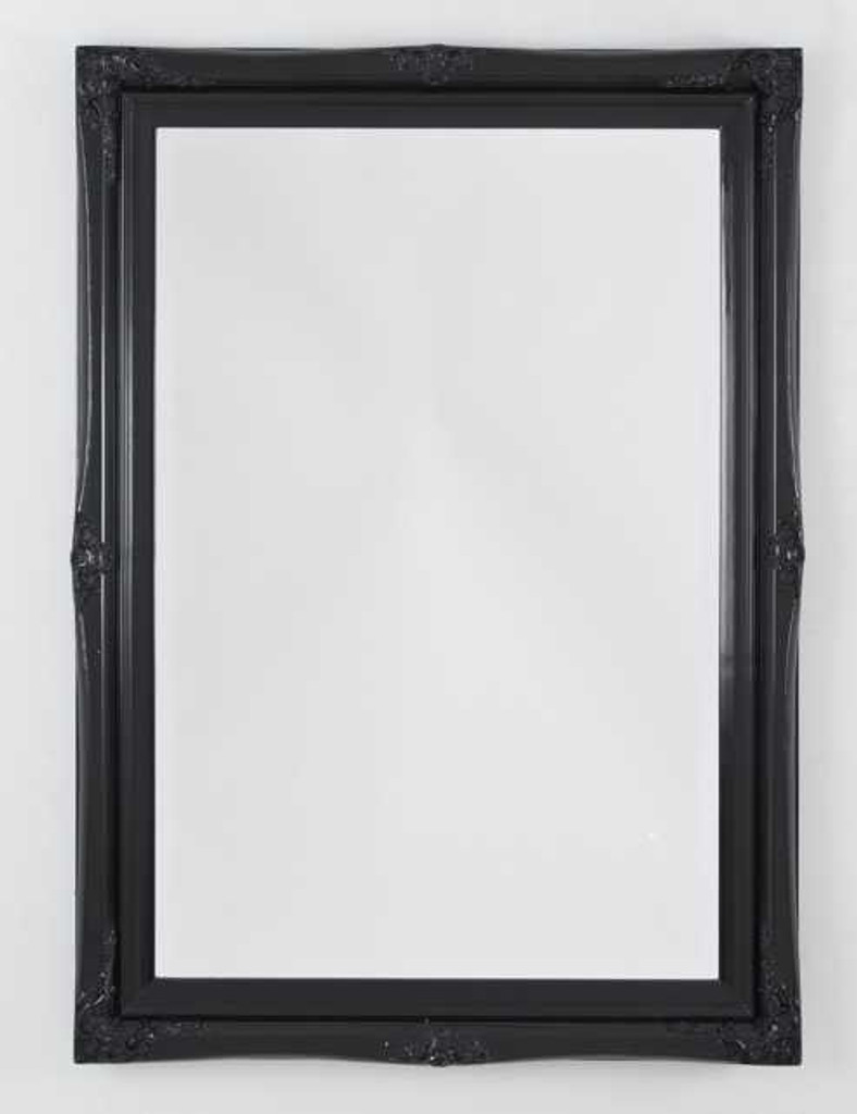 Princess Black Gloss Mirror Print Decor