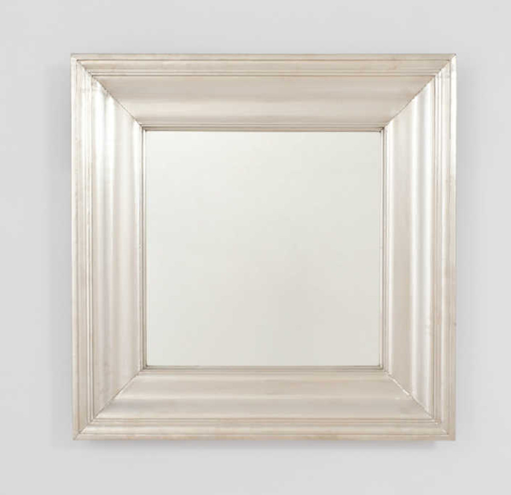 Print Decor | Metal White Mirror | Square