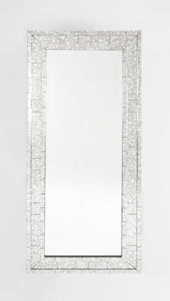 Antiqued  Peripheral Mirror   Print Decor
