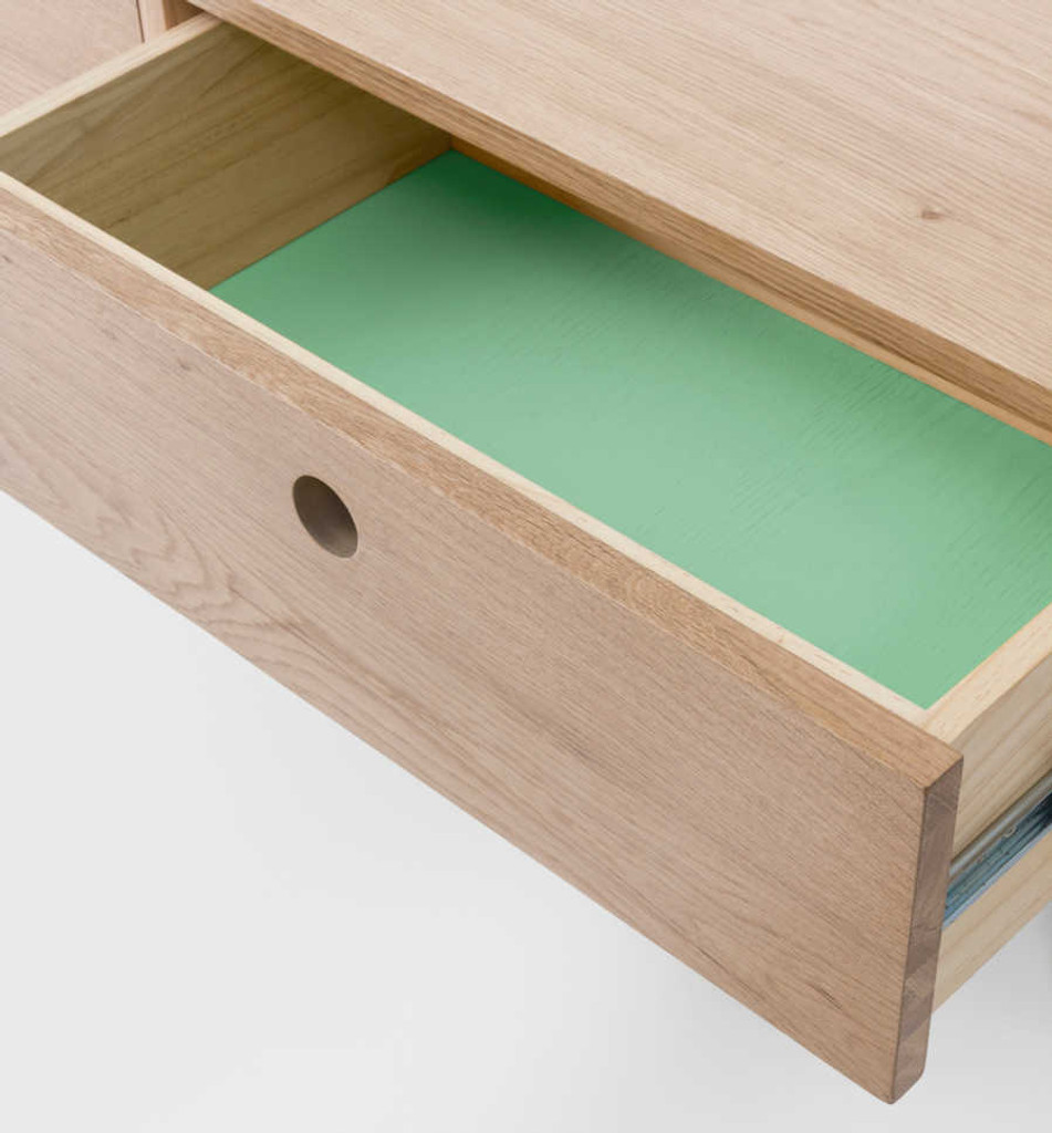 MODERN FURNITURE | ZAC CONSOLE: MINT | PRINT DECOR | DETAIL