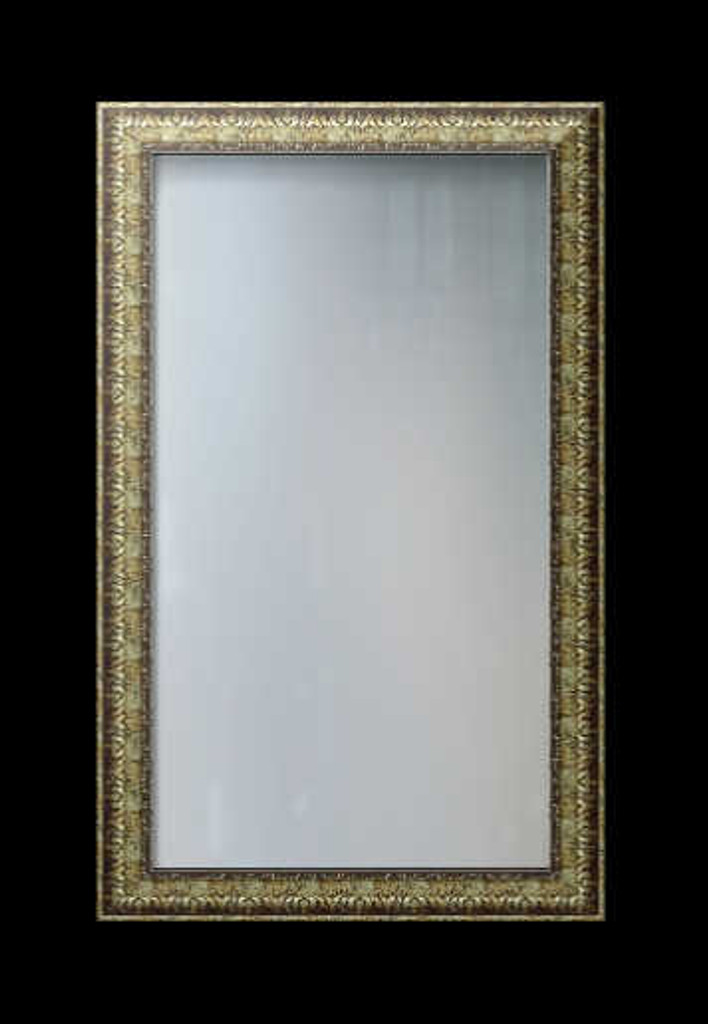 PRINT DECOR | DISTRESSED ORNATE SILVER FRAMED MIRROR | MIRROR