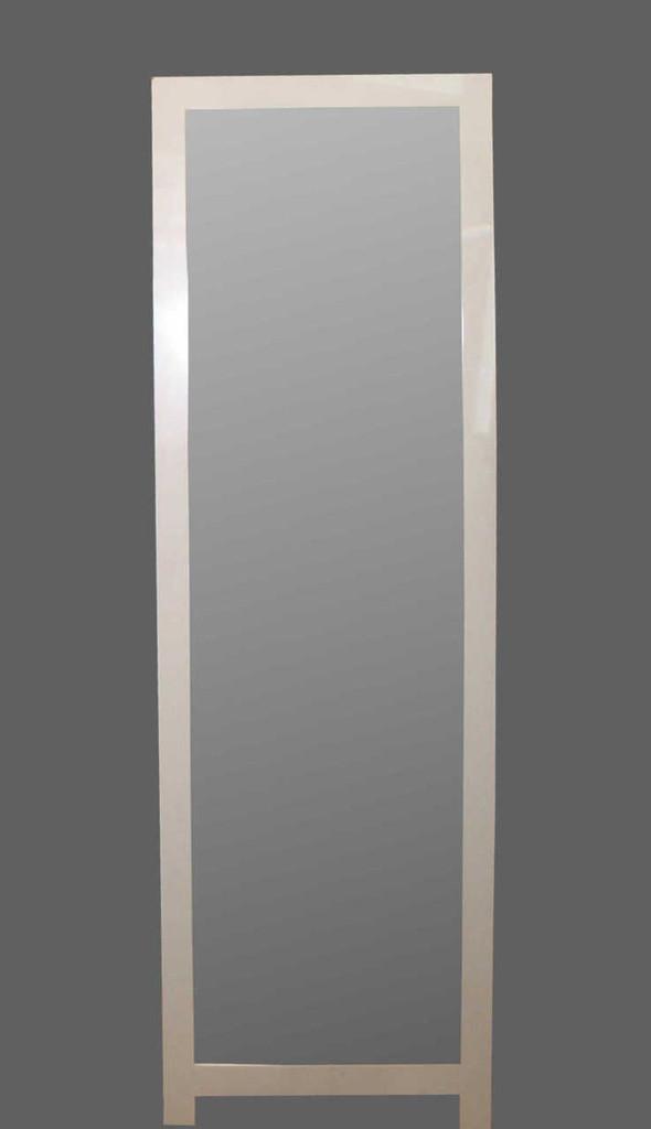 Print Decor | FREE STANDING FLAT WHITE MIRROR 4 CM FRAME