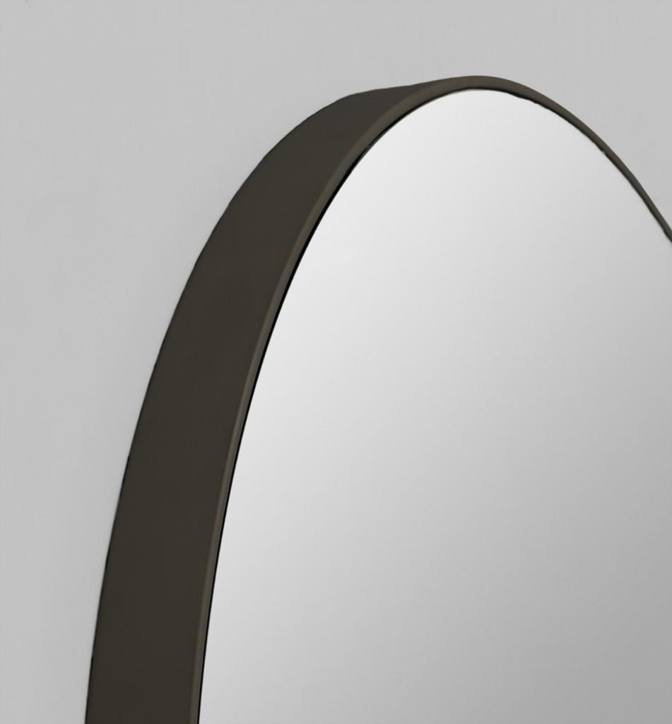 Print Decor   Modern Circular Mirror   Black   Detail