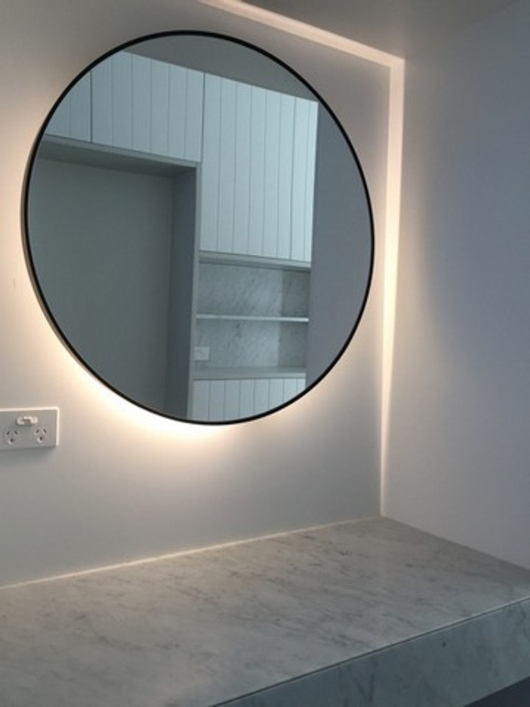 Mirror with back lighting   Large Modern Circular Mirror
