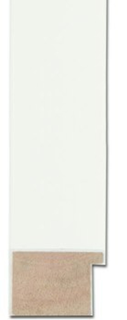 MODERN SIMPLE WHITE FRAMED MIRROR | Sample