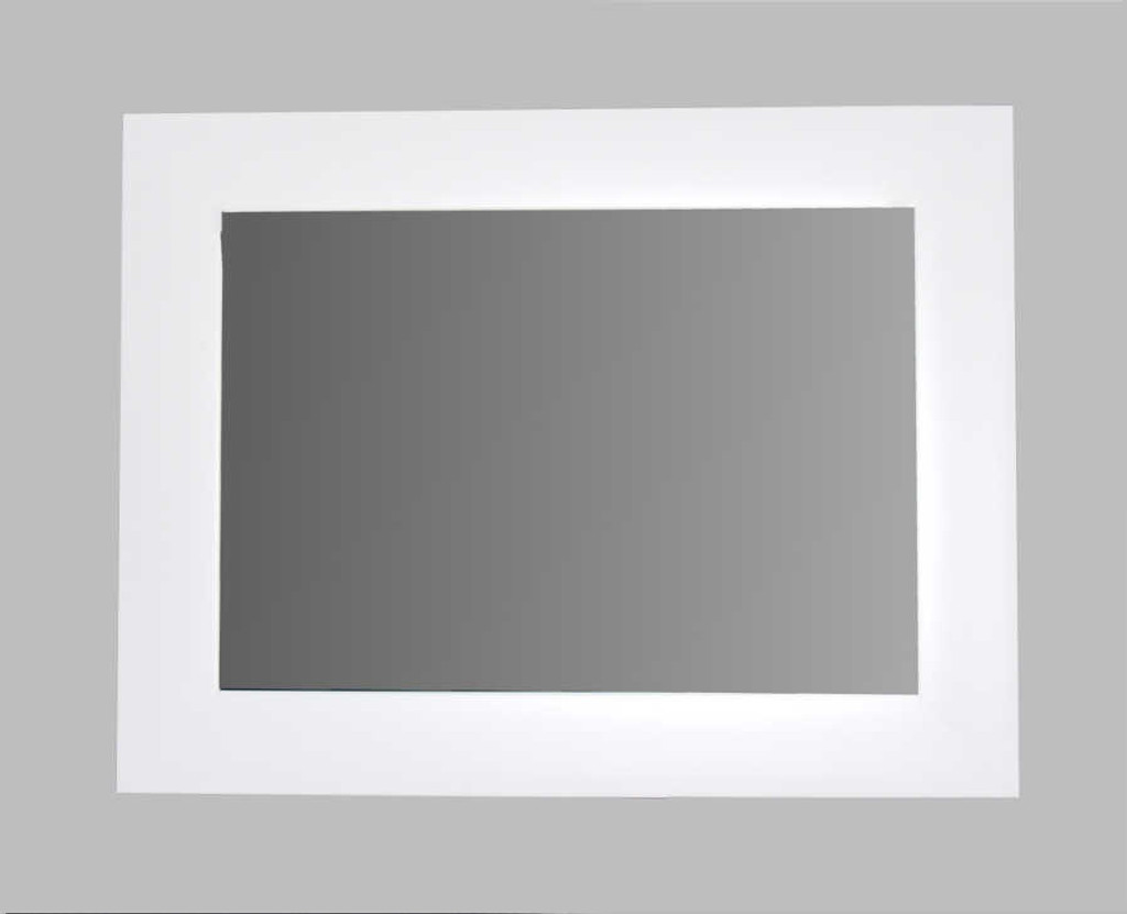 MODERN GEOMETRIC WHITE FRAMED MIRROR