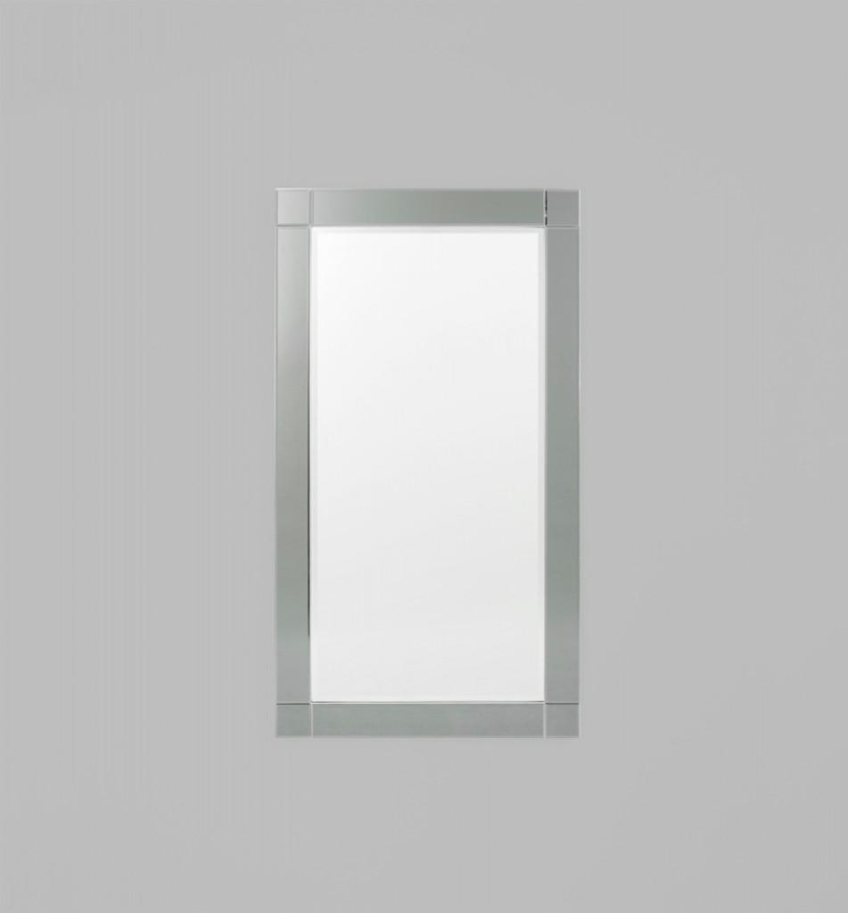 Milan Mirror,  Silver/Black Mirror