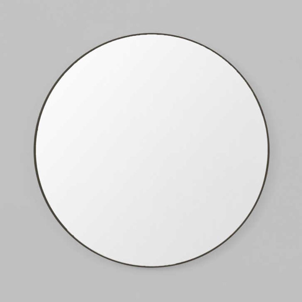 Print Decor | Modern Round Mirror | Black