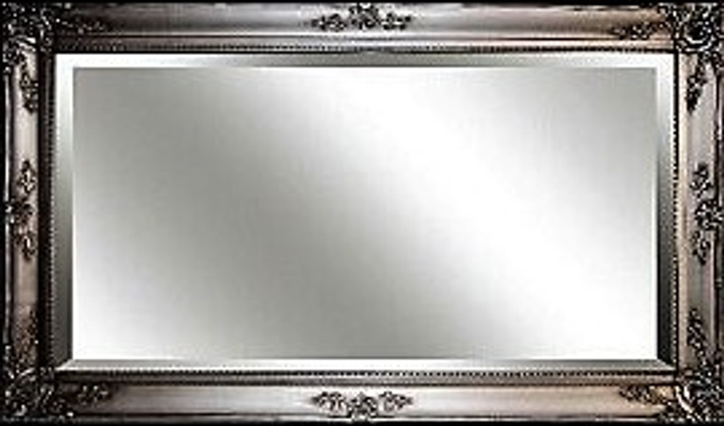 Big Ornate Mirror  Silver Large