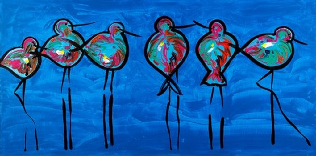 Australian Modern Marine Art | Blue Oyster Catches | Print Decor Gallery