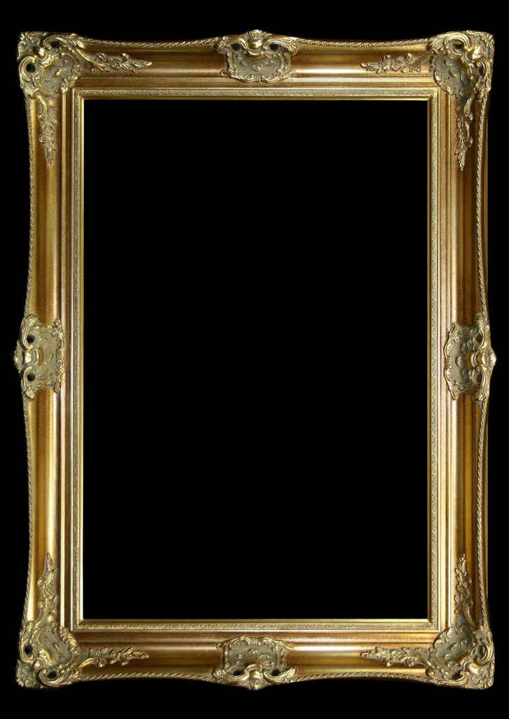Empty Frame Classic Antique Victorian Gold