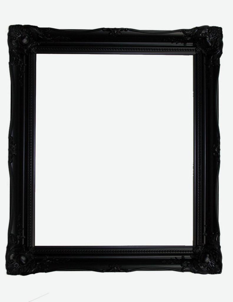 Empty Frame Antique Victorian Black