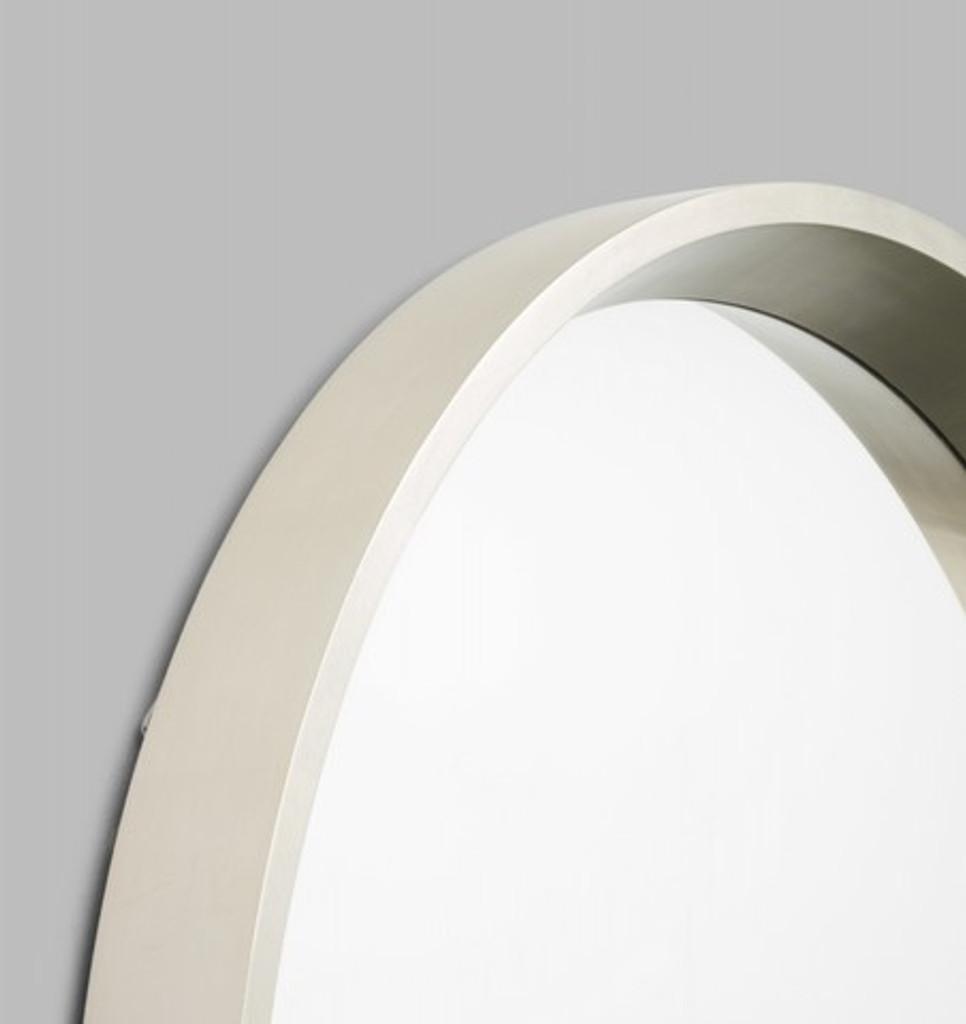Round Silver Framed Mirror, 90 cm | Detail