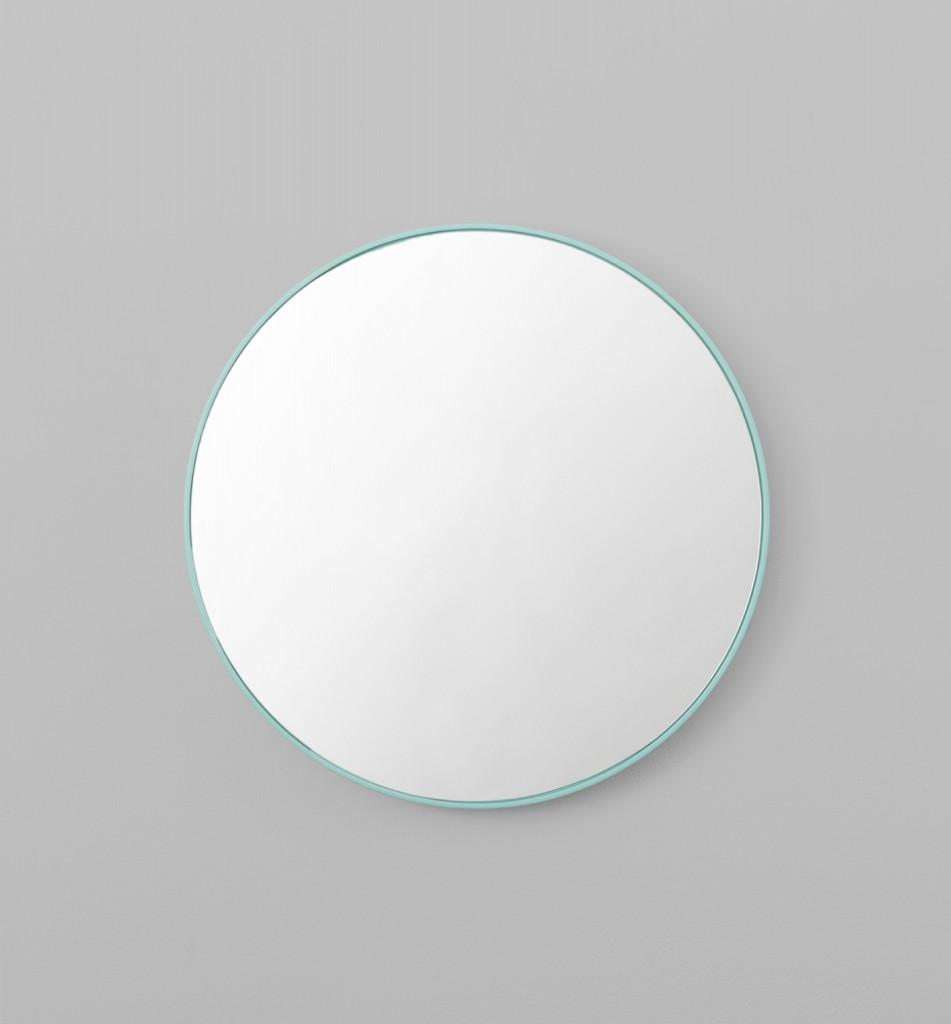 Modern Circular Mirror Mint