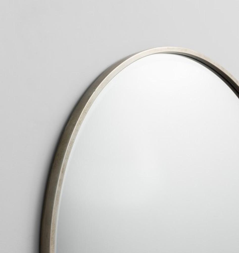 Silver & Black Round Mirror, Detail