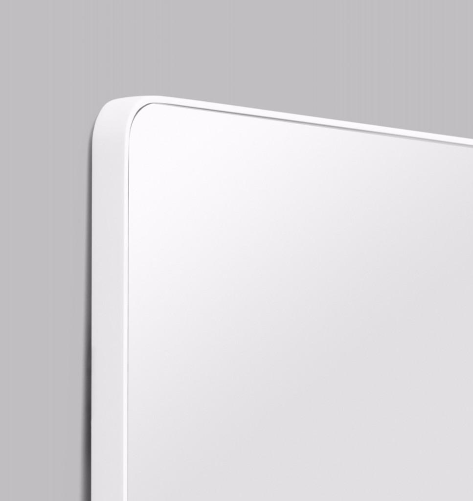 Errol Curved Bright White | Print Decor | Detail