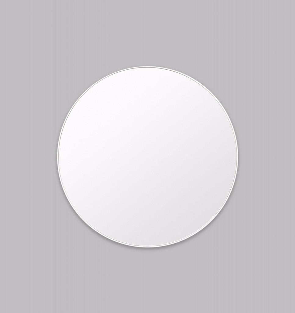 Modern Circular Mirror Bright White | Print Decor