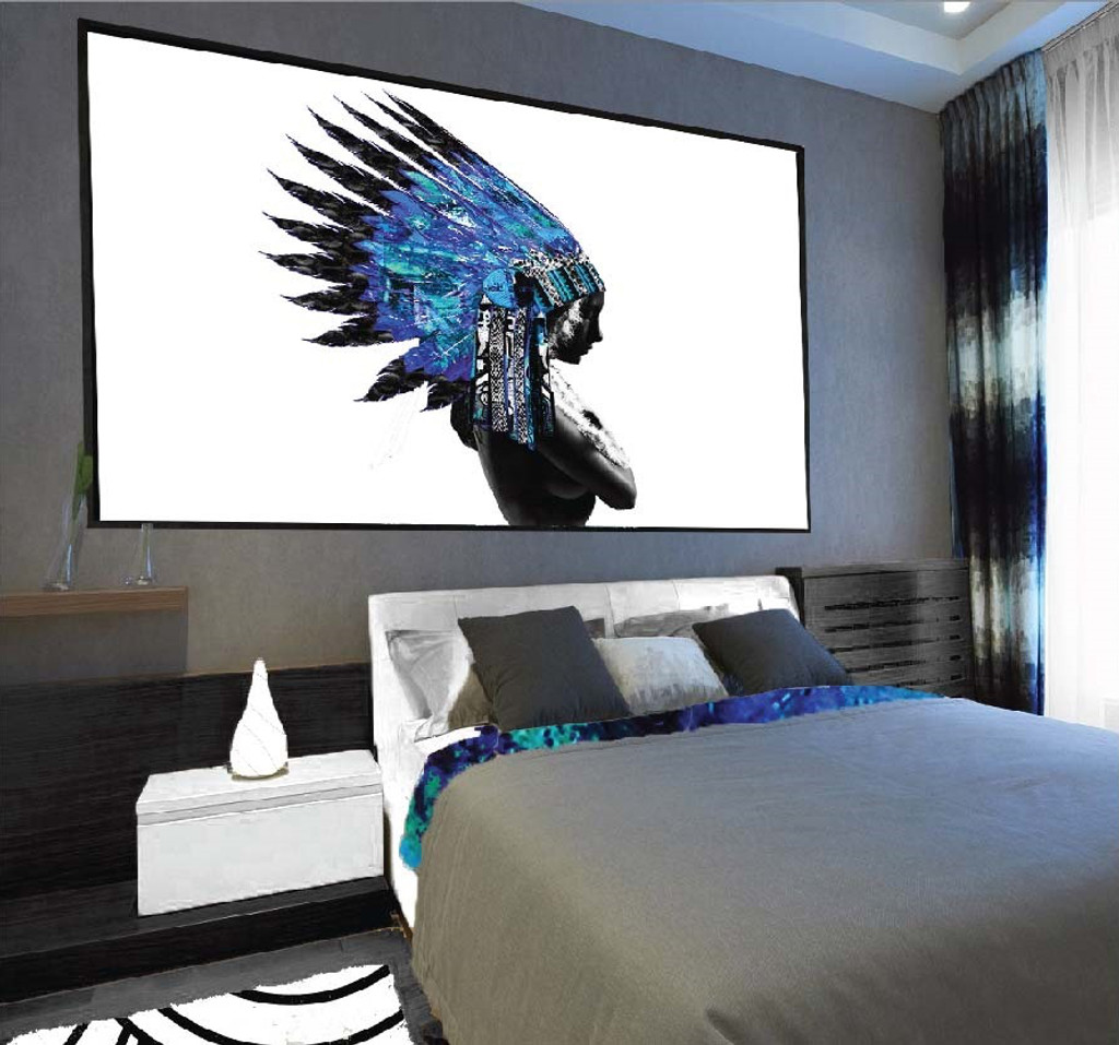 On Trend Image |  Native Blue Warrior, in situ | Print Decor, Melbourne
