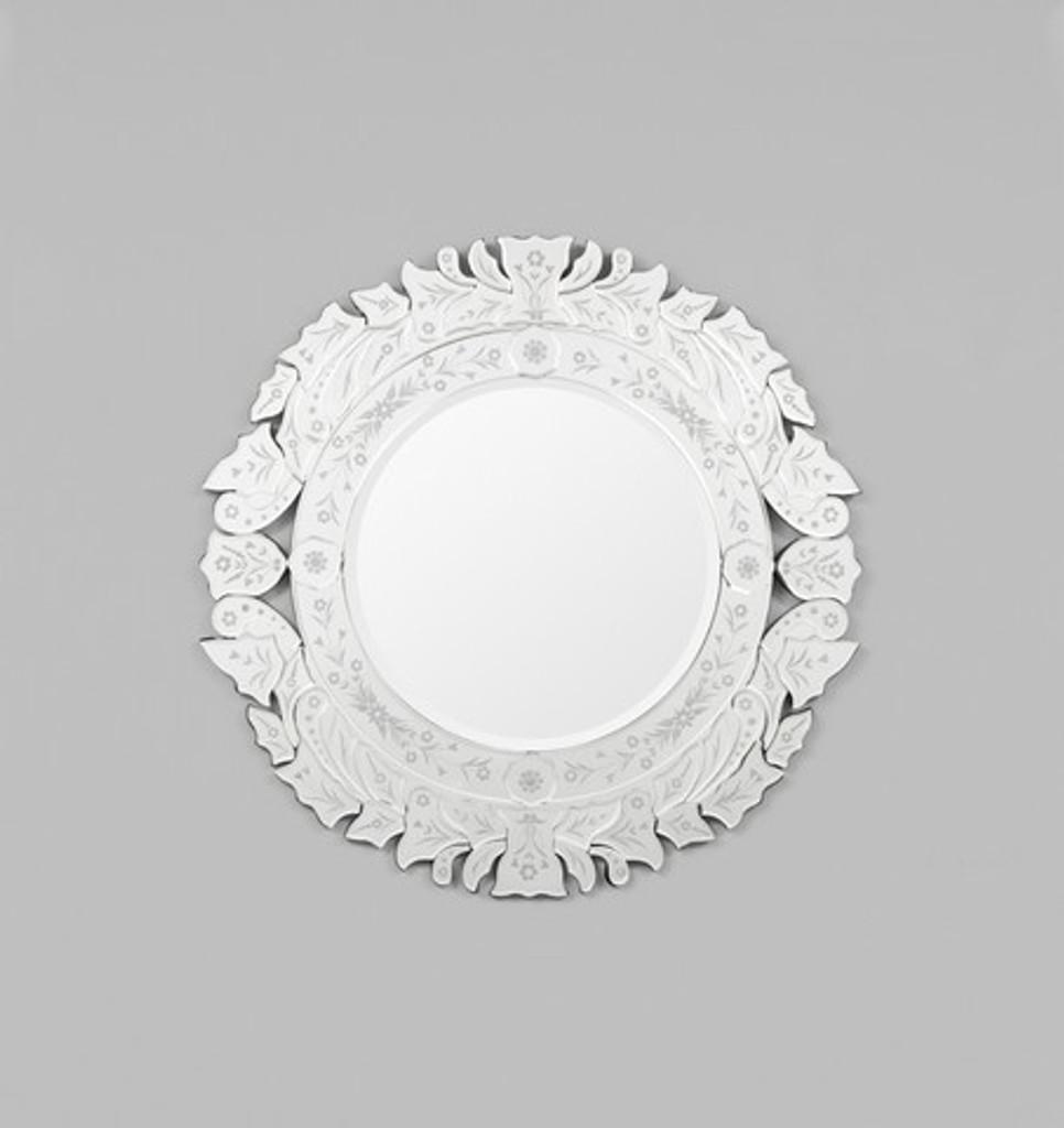 Round Venetian Mirror Laurel