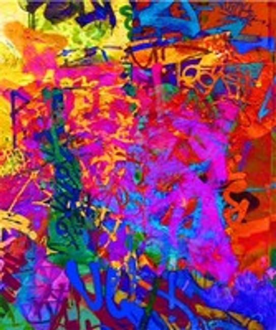 Colour Riot by Melbourne Artist Jan Neil