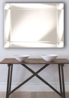 Print Decor St Kilda Mirror. This mirror frame is made of sectioned mirror and stands out from the bevelled inner mirror.