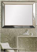 Print Decor Reverse Beaded Angle Mirror