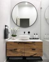 Modern Circular Mirror Black