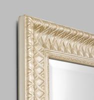 Champagne Lattice Framed Mirror