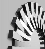 Modern Sunburst Mirror | Detail | Print Decor