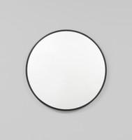 Modern Round Bella Gloss Black Mirror | Print Decor