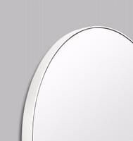 Modern Circular Mirror Bright White | Print Decor | Detail