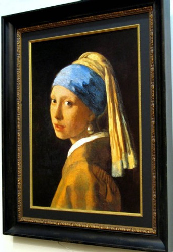Girl with a Pearl Earring by Johannes Vermeer - Framed Picture