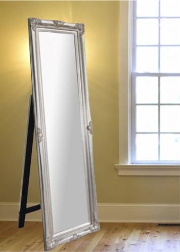Princess Free-standing Floor Mirror - Silver