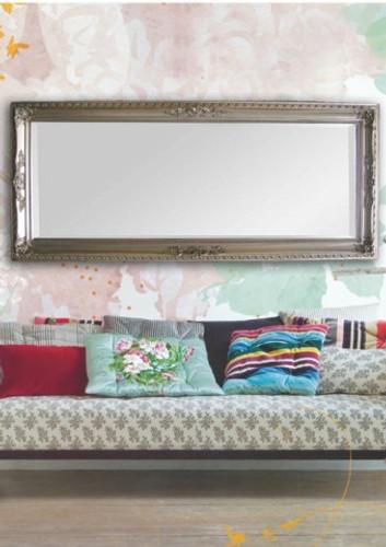 Hampton Ornate Silver Leaf Framed Mirror, in situ