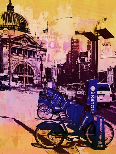 Jan Neil | Bike City (Pink)