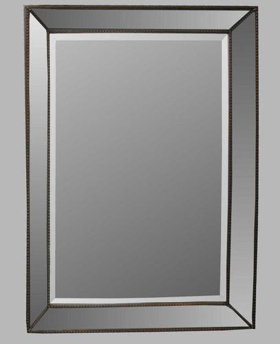 Print Decor | Beaded Angle Champagne Mirror