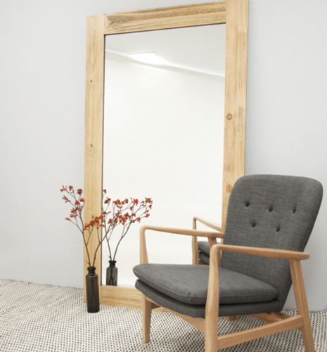 Natural Timber Bleached Mirror | In situ | Print Decor Melbourne