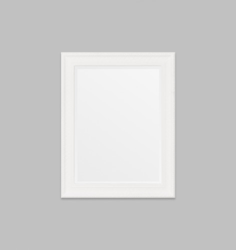 White Lattice Framed Mirror