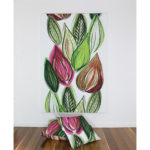 Scandinavian designed fabric art,  Frutti Pink