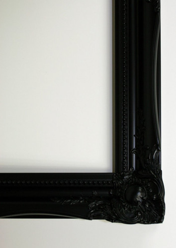 Empty Frame Antique Victorian Black
