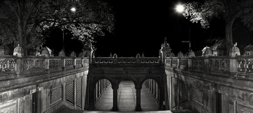 Photography | Bethesda Terrace In Monochrome | Wide Format | by Nick Psomiadis
