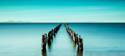 Photography   Blissful Bay    Wide Format   by Nick Psomiadis