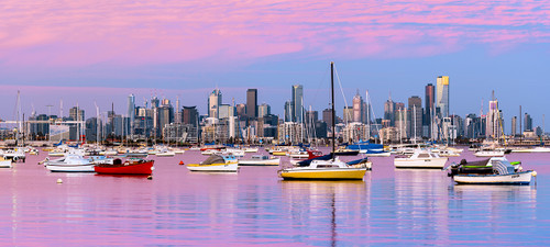 Photography | Melbourne Blush | Wide Format | by Nick Psomiadis