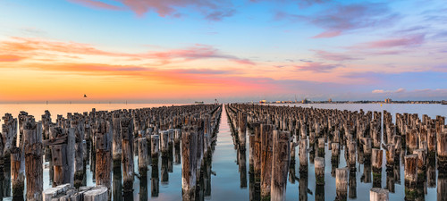 Photography | Princes Pier Sunrise | Wide Format | by Nick Psomiadis