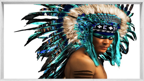 American Indian Headdress | Framed Designer print