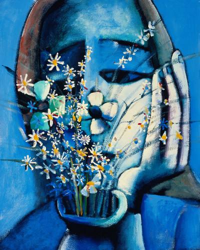 Blue Vase Framed Option