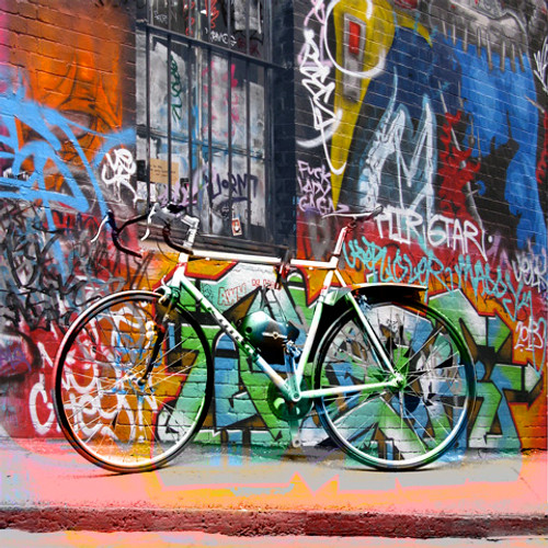 Jan Neil, Bike with Graffiti