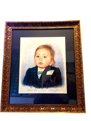 Portrait in Ornate Gold Italian Bellini Frame