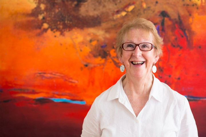 Jan Neil and her art at Print Decor